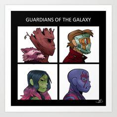 Gorillaz of the Galaxy Gorillaz Demon Days, Gorillaz Fan Art, Marvel Drawings, Disney Drawings, Guardians Of The Galaxy Vol 2, Fanart, Fandom Crossover, Superhero Movies, Marvel Dc Comics