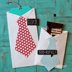 Shirt and Tie Treat Holders from Envelopes