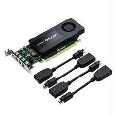 PNY Video Card VCQK1200DP-PB Quadro K1200 4GB DDR5 4x mini DisplayPort to DisplayPort Low Profile