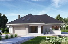 Projekt domu Wiesiołek 5, wizualizacja 1 House Layout Plans, Family House Plans, House Layouts, Beautiful House Plans, Beautiful Homes, Modern Bungalow, Concept Home, Home Fashion, My House