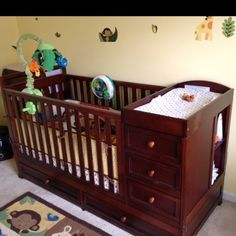 3 In 1 Crib And Changing Table, Toddler Bed, Twin With Night Stand