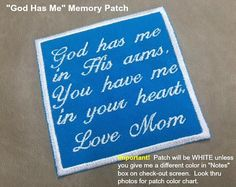 SEW or IRON ON Memory Pillow Patch  2 Sizes Valentina Font