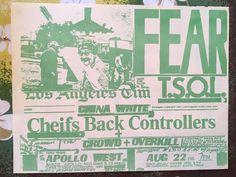 Original Punk Rock Flyer FEAR TSOL Bards Apollo 81