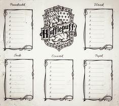 plan lekcji harry potter hufflepuff Harry Potter Journal, Harry Potter Fandom, School Timetable, Fantasy Bra, Harry Potter Printables, Anniversaire Harry Potter, School Schedule, Event Planning Business, Fall Makeup
