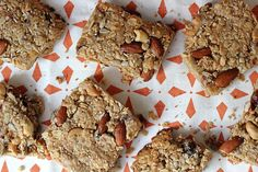 These protein- and carb-packed energy bars are the perfect breakfast to grab when you need serious energy. Almonds, cashews, sesame seeds, and sunflower seeds fill you up, while honey and dates will give you the carbs you need for active mornings. And at 300 calories, each bar will keep you full for hours. Source: Leta Shy