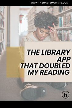 Succeed at your New Year's Resolution to read more by checking out the library app that doubled my reading in six months!