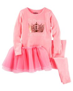 Baby Girl 3-Piece Princess Tutu Cotton PJs from OshKosh B'gosh. Shop clothing & accessories from a trusted name in kids, toddlers, and baby clothes.