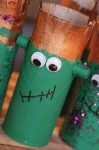 Monstruos con rollos de papel - Halloween toilet paper roll craft