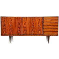 Henry Rosengren Hansen; #38 Rosewood Sideboard for Brande Møbelfabrik, 1960.