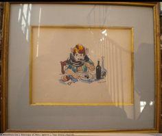"""André Dignimont (1891-1965) Aquarelle """" La gloutone """""""