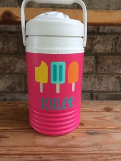 Personalized Half Gallon Water Cooler, Monogrammed Water Jug, Sports Water Cooler by HappyToz on Etsy