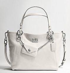 white coach purse woven - Google Search