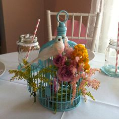 birdcage centerpiece at Jordan's bridal shower