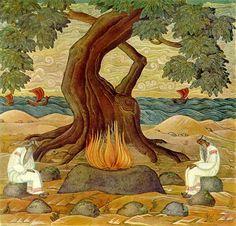 'vaydelots' - nicholas roerich (lithuanian pagan priests)