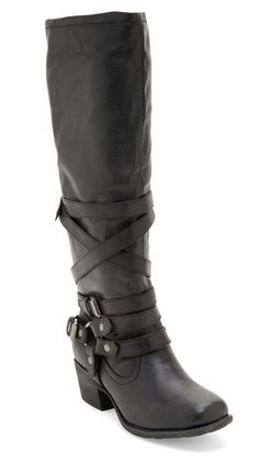 Tall Motorcycle Boots / Pink & Pepper $27