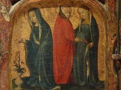 ALLEMAGNE,15e - Scènes de la Vie de la Vierge, l'Enfance du Christ - Détail 09 - Virgin of Annunciation and Visit to Elisabeth - Louvre -