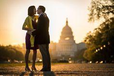 Sunrise Capitol engagement photo