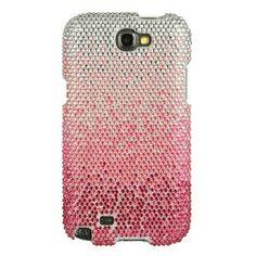 Amazon.com: Samsung Galaxy Note 2 Full Diamond Cascade Case Light Pink/silver Stunning Design: Cell Phones & Accessories