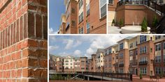 Glen-Gery Arbor Rose Thin Brick and Rustic Burgundy modular size brick complete this apartment building complex! #thinbrick #brick #thin #commercial #architecture #glengery