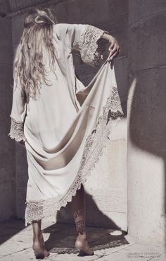 upcoming LW Moon Child Lace Kimono in 'Crescent Moon' (autumn'14) | © Hannah Lemholt Photography