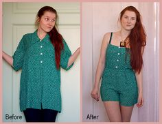 My DIY Diary: Refashion; Oversized blouse to jumpsuit