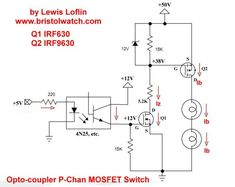 n channel mosfet switch imagem pinterest linux and arduino  p channel opto isolated mosfet switching circuit using