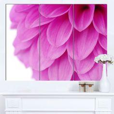 Designart 'Soft Abstract Flower Petals' Modern Floral Canvas Wall Art