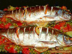 peste cu legume la cuptor Romanian Food, Romanian Recipes, Jacque Pepin, Sushi, Seafood, Food And Drink, Turkey, Healthy Eating, Cooking