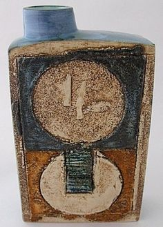 Troika Pottery Chimney Vase Approximately 8 in height click now for more info. Ceramic Pottery, Pottery Art, Pottery Ideas, Ceramic Boxes, Mid Century Art, Clay Art, Interior Decorating, Perfume Bottles, Sculpture