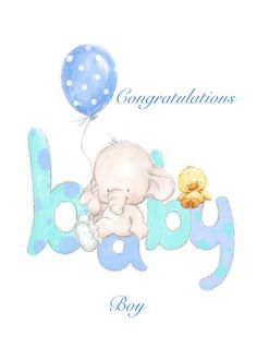 Soft baby boy color letter and cute baby elephant with blue balloon card. Personalize any greeting card for no additional cost! Cards are shipped the Next Business Day. Wishes For Baby Boy, Baby Boy Cards, Welcome Baby Boys, New Baby Boys, Congratulations Baby Boy, Birthday Messages For Sister, Baby Elefante, Baby Mini Album, Sweet Dreams Baby