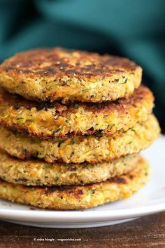 Carrot Zucchini Chickpea Fritters Vegan Recipe Ever try this? #comida