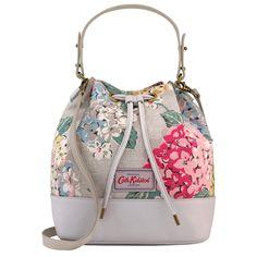 Hydrangea Canvas & Leather Bucket Bag   Hydrangea   CathKidston