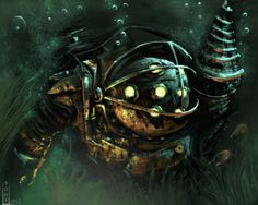 BioShock - Big Daddy practice by Bohy.deviantart.com on @DeviantArt