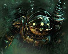 BioShock - Big Daddy practice by Bohy.deviantart.com on @DeviantArt