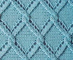 Lace triangle trellis - Russian knitting symbols with link to guide More