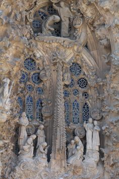 Sagrada Familia Cathedral, Nativity scene ~ architect & visionary Antoni Gaudi