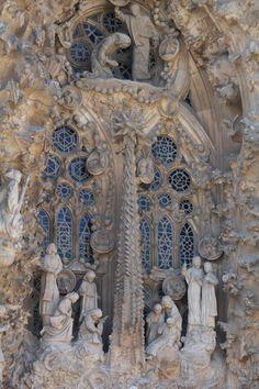 Sagrada Familia Cathedral, Nativity scene ~ architect & visionary Antoni Gaudi