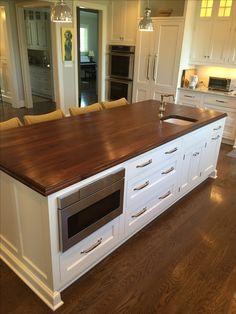 Wood Islands, Walnut Kitchen, Kitchen Island, Kitchens, Mountain, Rooms, House Design, Inspiration, Home Decor