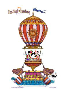 New parade coming to the Magic Kingdom in 2014 -- The Disney Festival of Fantasy Parade - First look at some of the float designs!