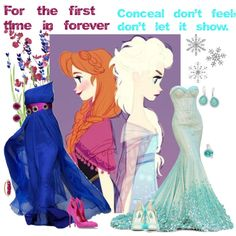 """""""Anna and Elsa"""" by alyssa-eatinger on Polyvore"""