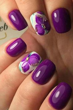 you should stay updated with latest nail art designs, nail colors, acrylic nails, coffin nails. New Nail Designs, Nail Designs Spring, Purple Nail Designs, Spring Design, Fancy Nails, Trendy Nails, Latest Nail Art, Spring Nail Art, Spring Nails