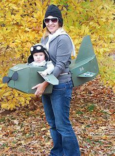 paare faschingskostüme piloten karton flugzeug
