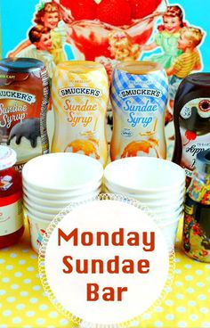 No more blue Mondays! Monday is a perfect day for a #SundaeFundae with @Smuckers!  #ad