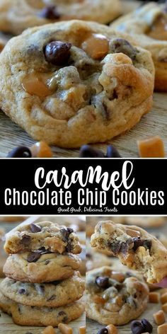 Cookie recipes 360921357637708140 - Caramel Chocolate Chip Cookies are loaded with caramel pieces and chocolate chips, are crunchy on the outside, soft and chewy on the inside. Caramel Chocolate Chip Cookies, Chocolate Cookie Recipes, Chocolate Caramels, Easy Cookie Recipes, Homemade Chocolate, Baking Recipes, Brownie Cookies, Caramel Cookie Recipe, Cookies With Caramel