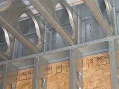 metal stud construction | It is possible to use steel studs and floor joists in load bearing ...