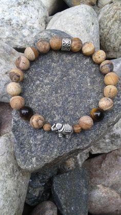 Bracelet collection super hero for boy made of jasper etsy Gemstone Bracelets, Bracelets For Men, Diamond Bracelets, Stone Jewelry, Beaded Jewelry, Jewellery, Diffuser Jewelry, Fitness Bracelet, Handmade Jewelry Designs