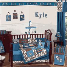 Surf Blue and Brown Baby Crib Bedding Set by JoJo Designs