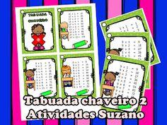 Tabuada chaveiro 2 EM PDF - Atividades Adriana