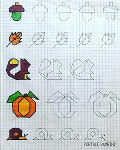 Cornicette per Bambini e per la Scuola Primaria | Portale Bambini #frames #cornicette #school #schoolsupplies #autumn Blackwork, Symmetry Worksheets, Zentangle, Graph Paper Art, Math Art, Elephant Art, Rainbow Loom, Doodle Drawings, Letter Art