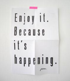 "Poster ""Enjoy it"" // poster by Petersen via DaWanda.com"